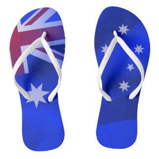 Australian flag flip flops