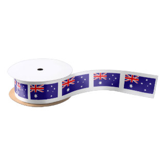 Australian flag gift ribbon for Australia Day Satin Ribbon