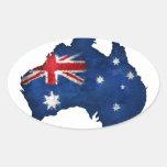 Australian Flag Graffiti Oval Stickers