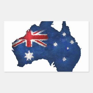 Australian Flag Graffiti Rectangular Sticker