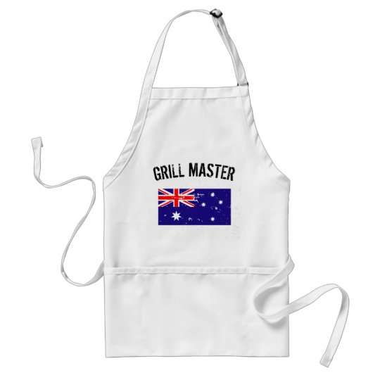 Australian flag GrillMaster BBQ apron for men