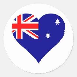Australian Flag Heart Sticker