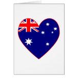 Australian Flag Heart Valentine Greeting Cards