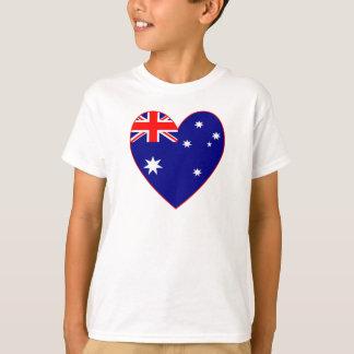 Australian Flag Heart Valentine T-Shirt