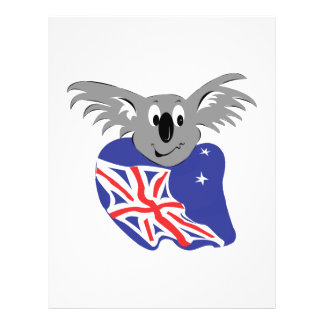 australian flag koala bear design custom flyer