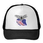 australian flag koala bear design mesh hat