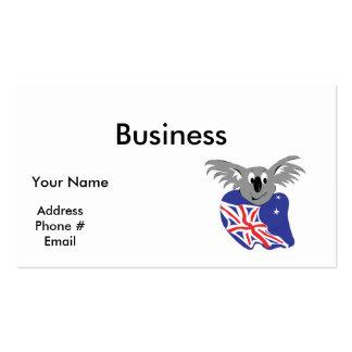 australian flag koala bear design pack of standard business cards