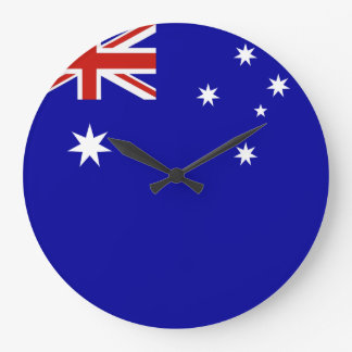 Australian flag large clock