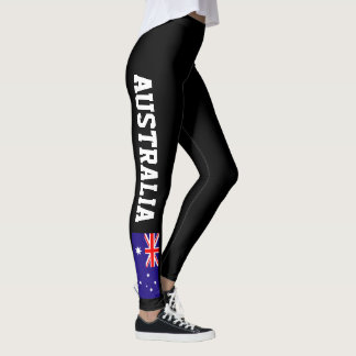 Australian flag leggings for sport fitness yoga