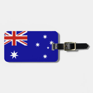 Australian flag luggage tag