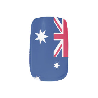 Australian flag nails minx nail art