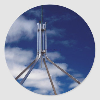 Australian flag, Parliament House, Canberra, Austr Stickers