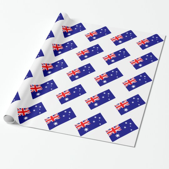 Australian Flag Pattern Union Jack Wrapping Paper