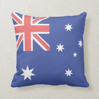 Australian Flag Polyester Throw Pillow