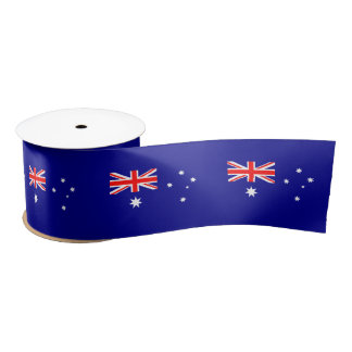 Australian flag satin ribbon