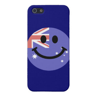 Australian flag smiley face cover for iPhone 5/5S