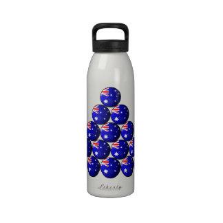 Australian Flag Snooker Balls Drinking Bottles