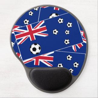 Australian Flag Soccer Balls Gel Mouse Pad
