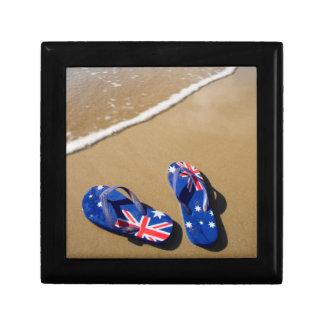 Australian Flag Thongs On Beach | South Wales Gift Box