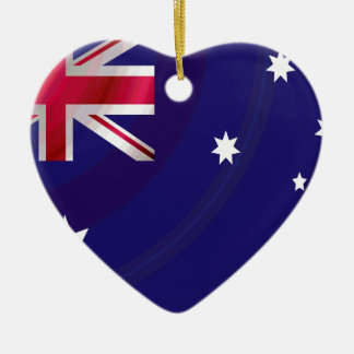 AUSTRALIAN FLAG WAVY CHRISTMAS ORNAMENT