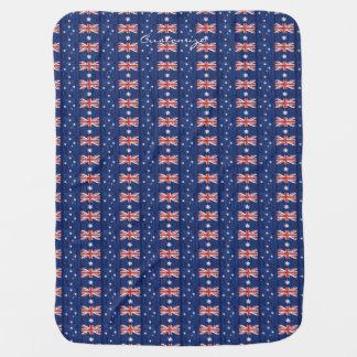 australian flags pattern  Thunder_Cove blue Baby Blanket