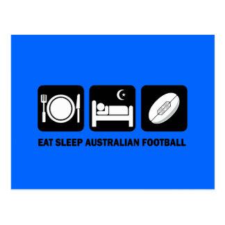 AUSTRALIAN FOOTBALL POSTCARD