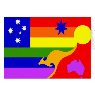 Australian Gay Pride Flag Greeting Card