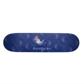 Australian Girl Silhouette Flag Skateboards