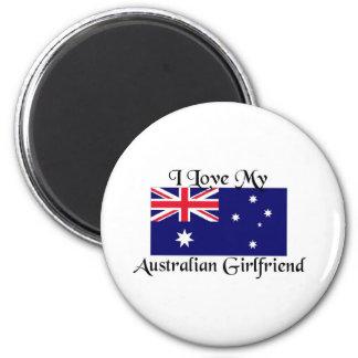 Australian Girlfriend 6 Cm Round Magnet