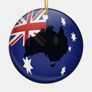 Australian Globe Round Ceramic Decoration