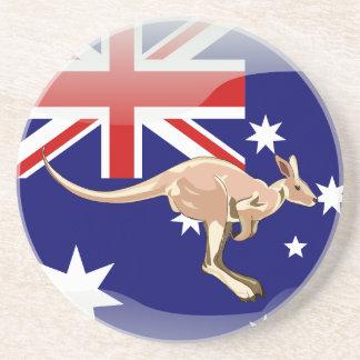 Australian glossy flag coaster