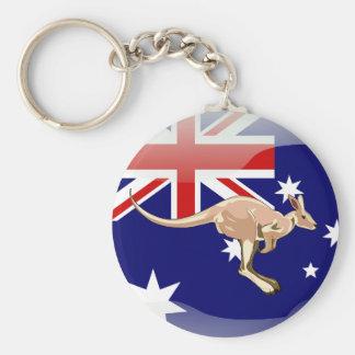 Australian glossy flag key ring