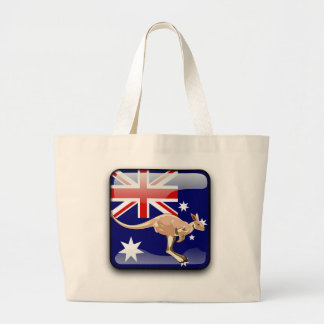 Australian glossy flag large tote bag