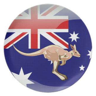 Australian glossy flag plate