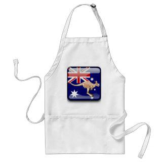 Australian glossy flag standard apron