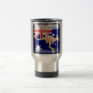 Australian glossy flag travel mug