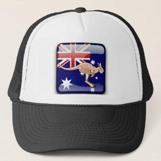 Australian glossy flag trucker hat