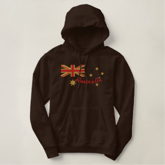 Australian Goldie Flag Embroidery Embroidered Hoodie