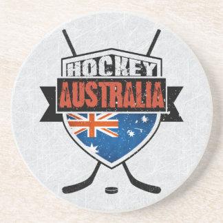 Australian Ice Hockey Flag Logo Coaster