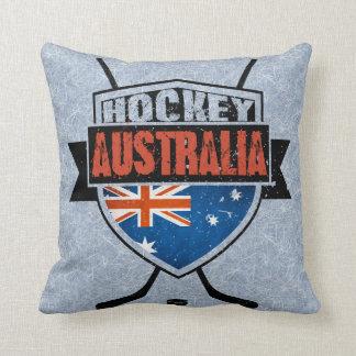 Australian Ice Hockey Flag Logo Cushion