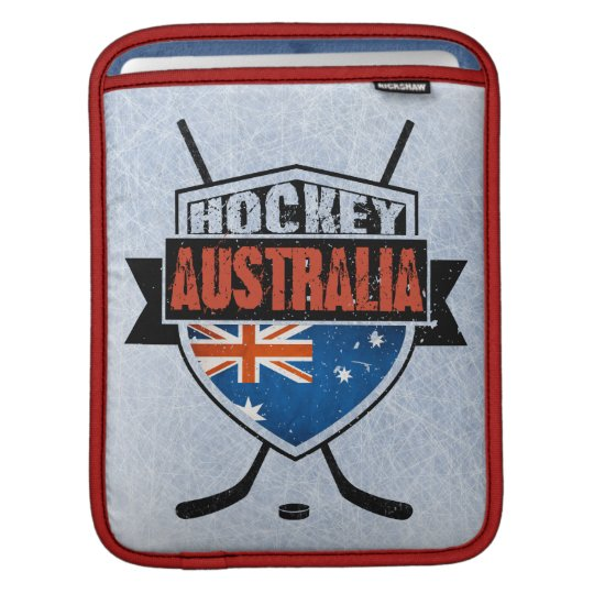 Australian Ice Hockey Flag Logo iPad Sleeve