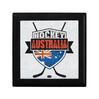 Australian Ice Hockey Flag Logo Trinket Box