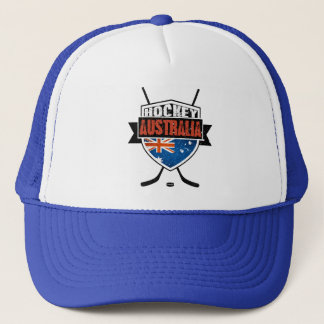 Australian Ice Hockey Flag Logo Trucker Hat