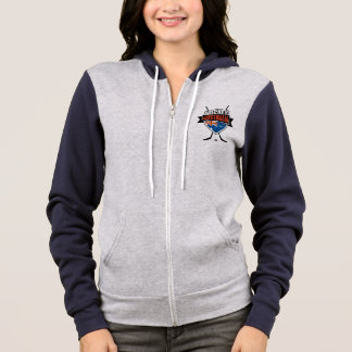 Australian Ice Hockey Flag Logo Zip Hoodie