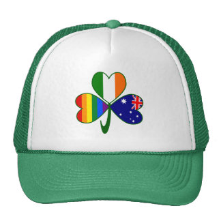 Australian Irish Gay Pride Shamrock Cap
