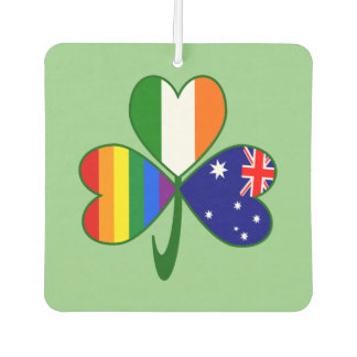 Australian Irish Gay Pride Shamrock Car Air Freshener