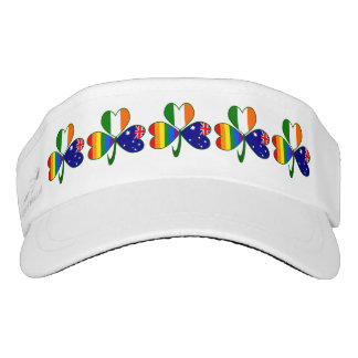 Australian Irish Gay Pride Shamrock Visor