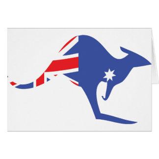 australian kangaroo card