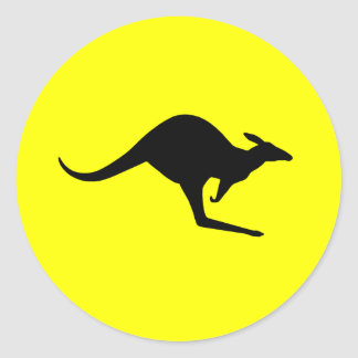Australian Kangaroo (pack of 6/20) Classic Round Sticker