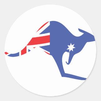 australian kangaroo round sticker